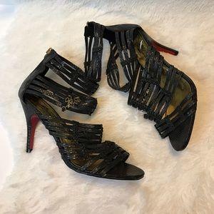 Apple Bottom Jannel strappy high heels